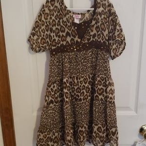 Leopard heart dress